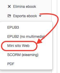 esporta come sito web